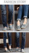 Comfortable Men Women Shoes Unisex Espadrilles Patchwork Suede weave Rope Ballet Flats Fisherman Flats Loafer Zapatos Mujer-SLIPS-SheSimplyShops