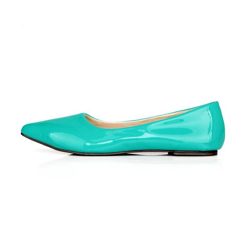 Stylish Glossy Leather Shoes-SLIPS-SheSimplyShops