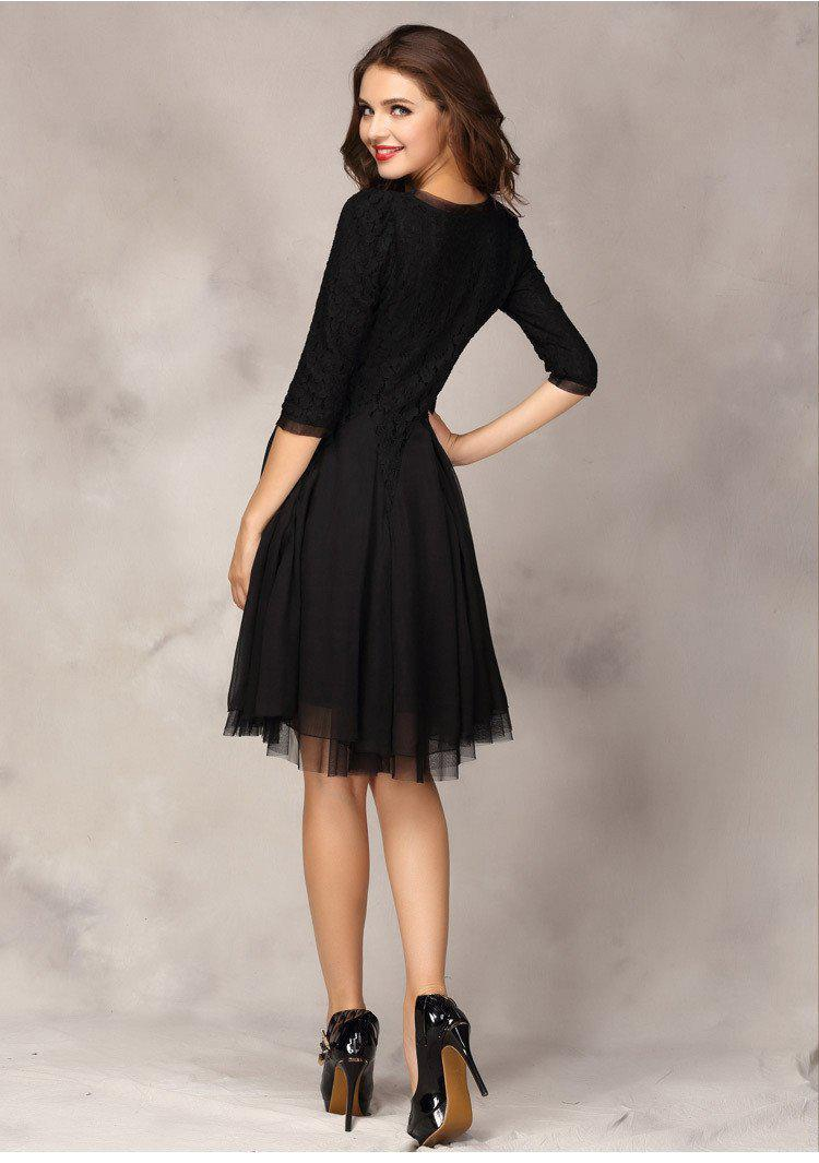 spring half sleeve women casual winter long party dresses