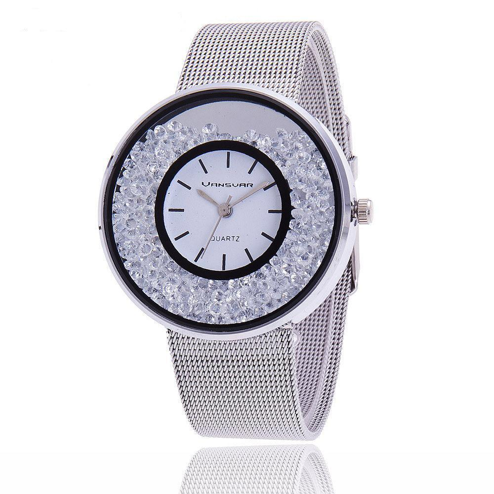 Fashion Luxury Stainless Steel Gold And Silver Wristwatch-WATCHES-SheSimplyShops