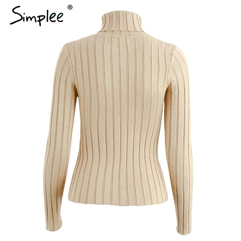 Turtleneck knitting sweater women Casual cotton knitted winter sweater pullover female Autumn winter jumper-SWEATERS + CARDIGANS-SheSimplyShops