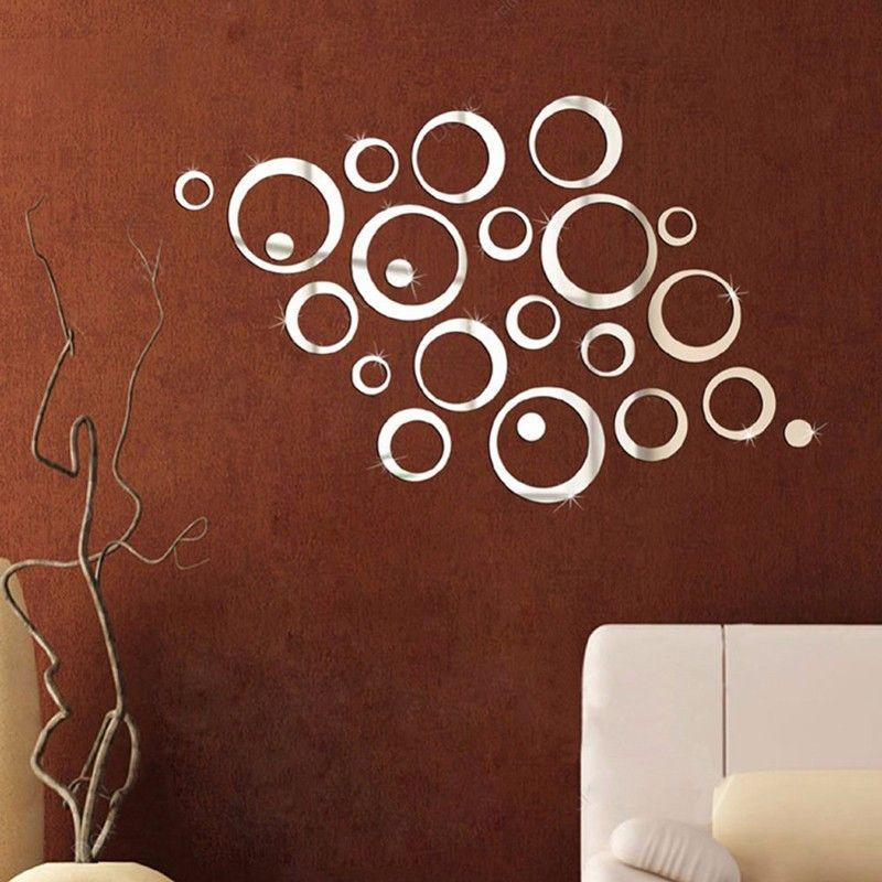 24Pcs Circles Wall Stickers Mirror Style Removable Decal Vinyl Art Mural Wall Sticker Home Adesivo De Parede-Maxi-SheSimplyShops