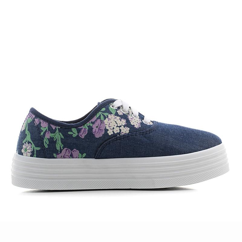 Women Footwear Flower Floral Canvas Shoes Height Increase Female Women's Shoes Casual Women Vulcanized Shoes-SLIPS-SheSimplyShops