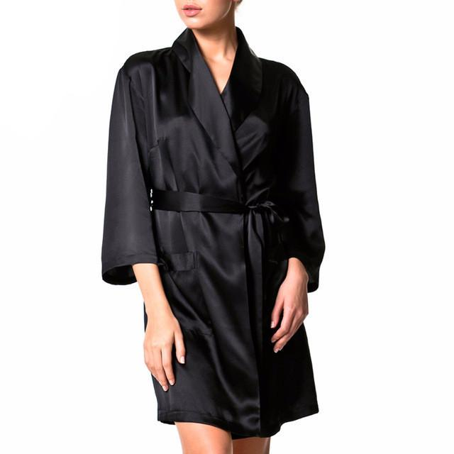 Silk women's dressing gown-Dress-SheSimplyShops