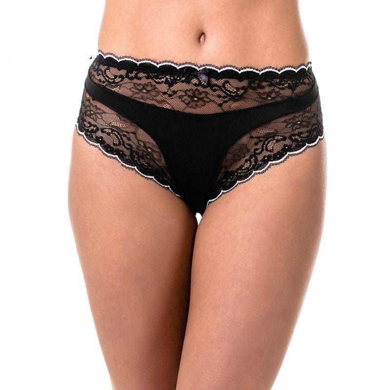 Briefs Fashion Lace Underwear Cotton Gusset Hight Rise Large-PANTS-SheSimplyShops