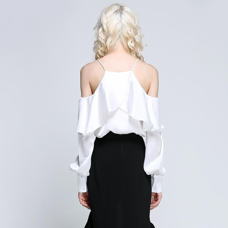 Womens Blouse Slash Neck Sexy Off shoulder Summer Blouse-Blouse-SheSimplyShops