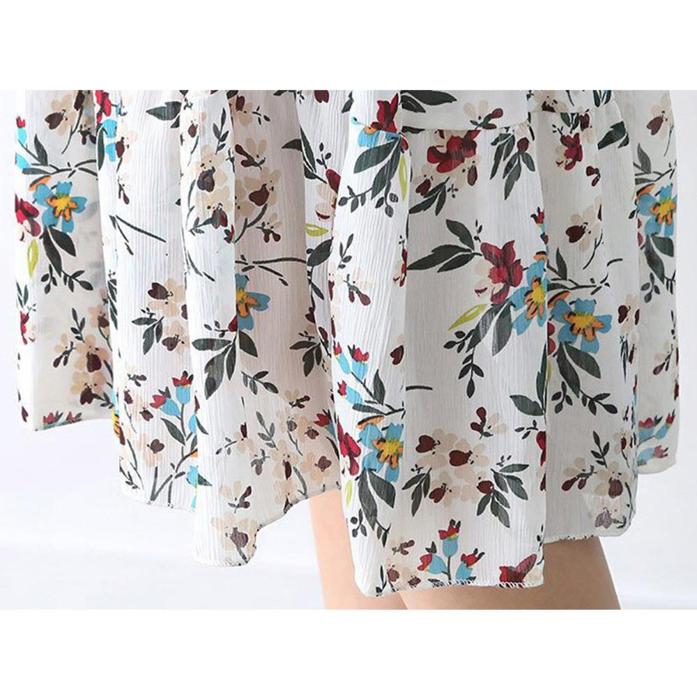Woman Fashion Summer Print Floral Dresses Casual Lolita Vestidos Beachwear Dress-Dress-SheSimplyShops