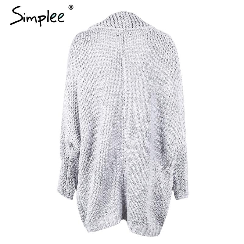 Casual knitting long cardigan female Loose kimono cardigan knitted jumper warm winter sweater women cardigan-KIMONOS + PONCHOS-SheSimplyShops