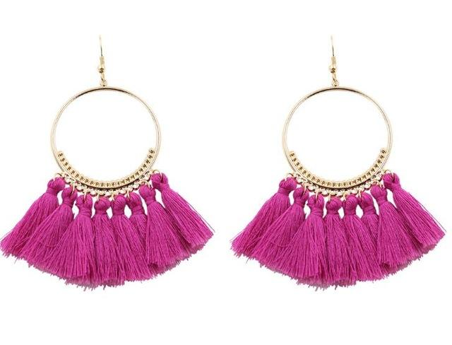 Round Tassel Earrings-EARRINGS-SheSimplyShops