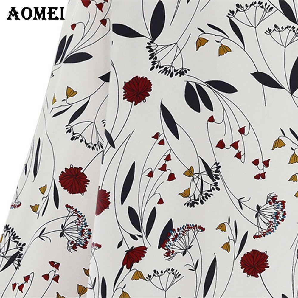 Chiffon Print Floral Blouse for Women Female Summer Spring Fashion Casual White Green Blusas Shirt-Blouse-SheSimplyShops