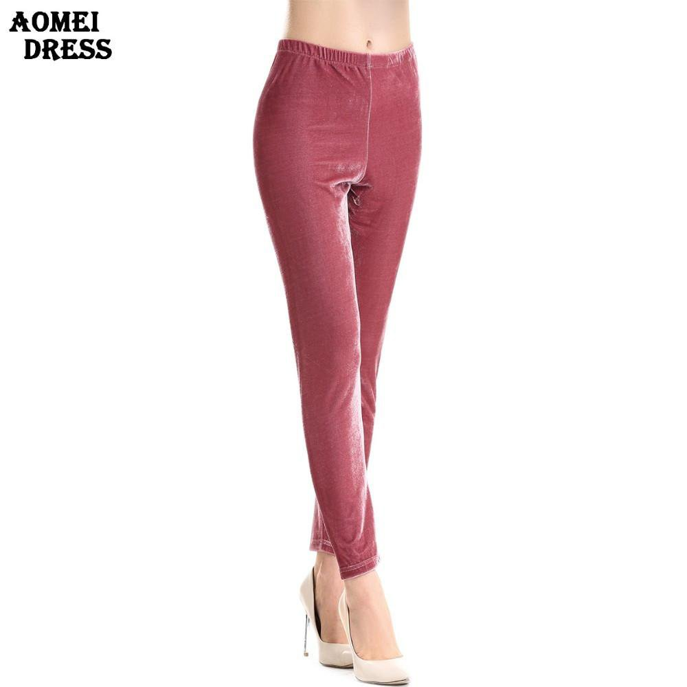 Ladies Slim Velour Pencil Pants Spring Women New Fashion Ladies High Waist Winter Velvet Casual Trousers Pants-PANTS-SheSimplyShops