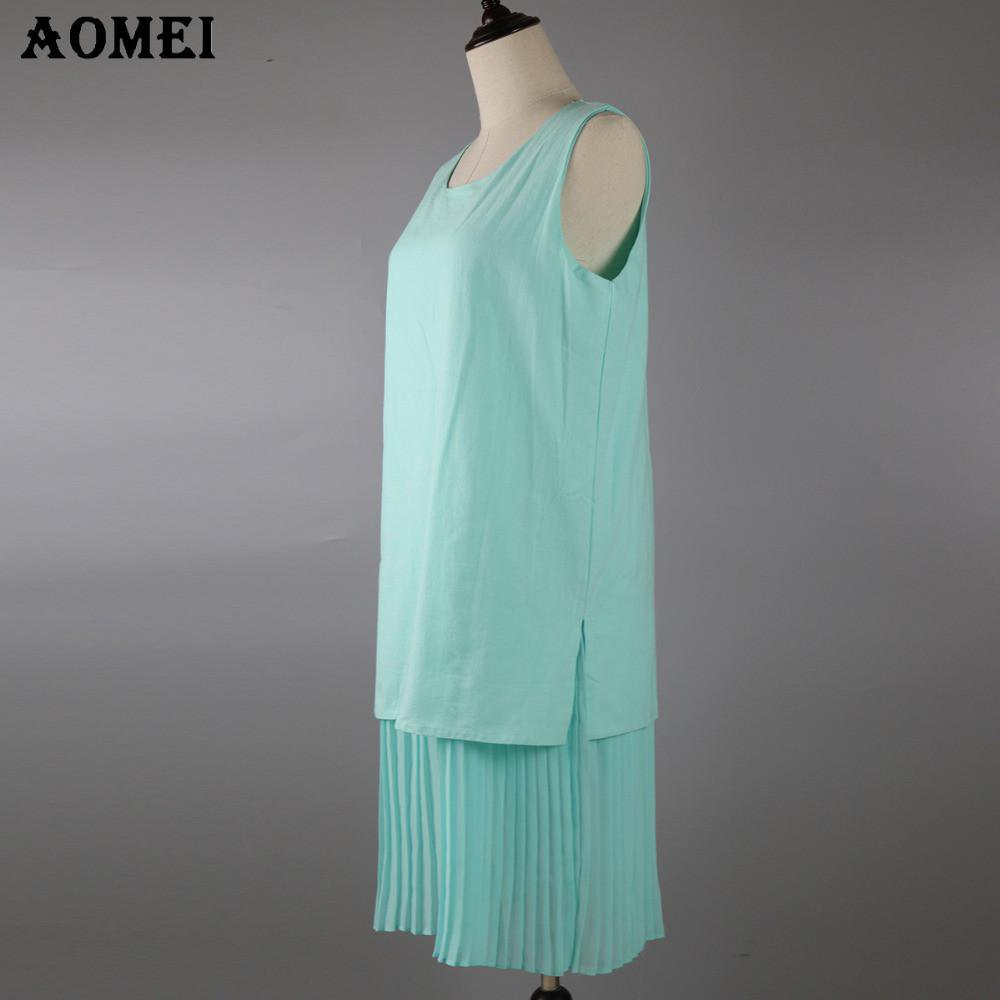 Summer Casual Sundress Women Cotton Linen Chiffon Ruffles Beach Wear Robes Female Tunics Dresses-Dress-SheSimplyShops