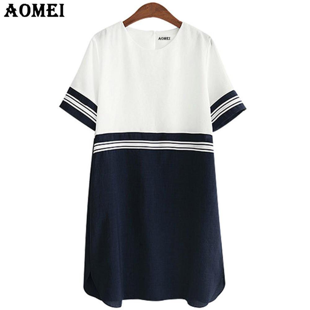 Fashion Girls Blue Mini Dress Chiffon Robes Play wear Short Sleeve Dresses Lady Summer Gown Clothing-Dress-SheSimplyShops