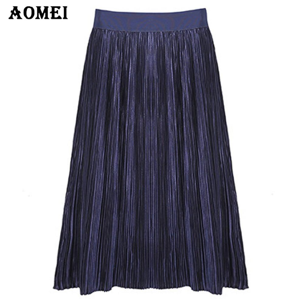 Women's Elastic High Waist Pleated Skirts Spring Summer Sequin Elegant Ladies Elegant Party Skirt Black Jupes-Dress-SheSimplyShops