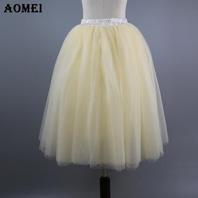 Spring New Beige Tulle Lolita Skirts Girl Party Elastic Waist Belt Women's Fashion Spring Cute Bottoms Petticoat-Dress-SheSimplyShops