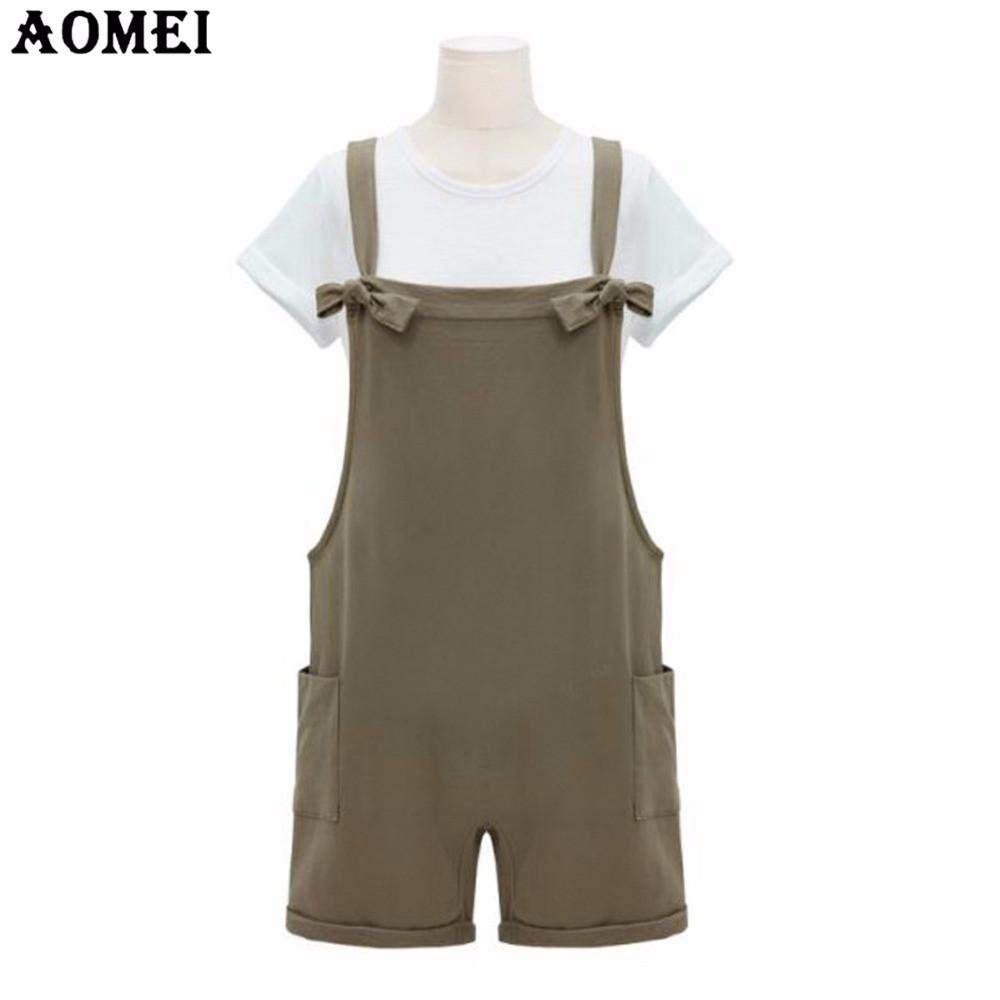 Women Summer Khaki Rompers Junior Girls Preppy Style Causal Clothing Rompers Bodysuits-ROMPERS & JUMPSUITS-SheSimplyShops