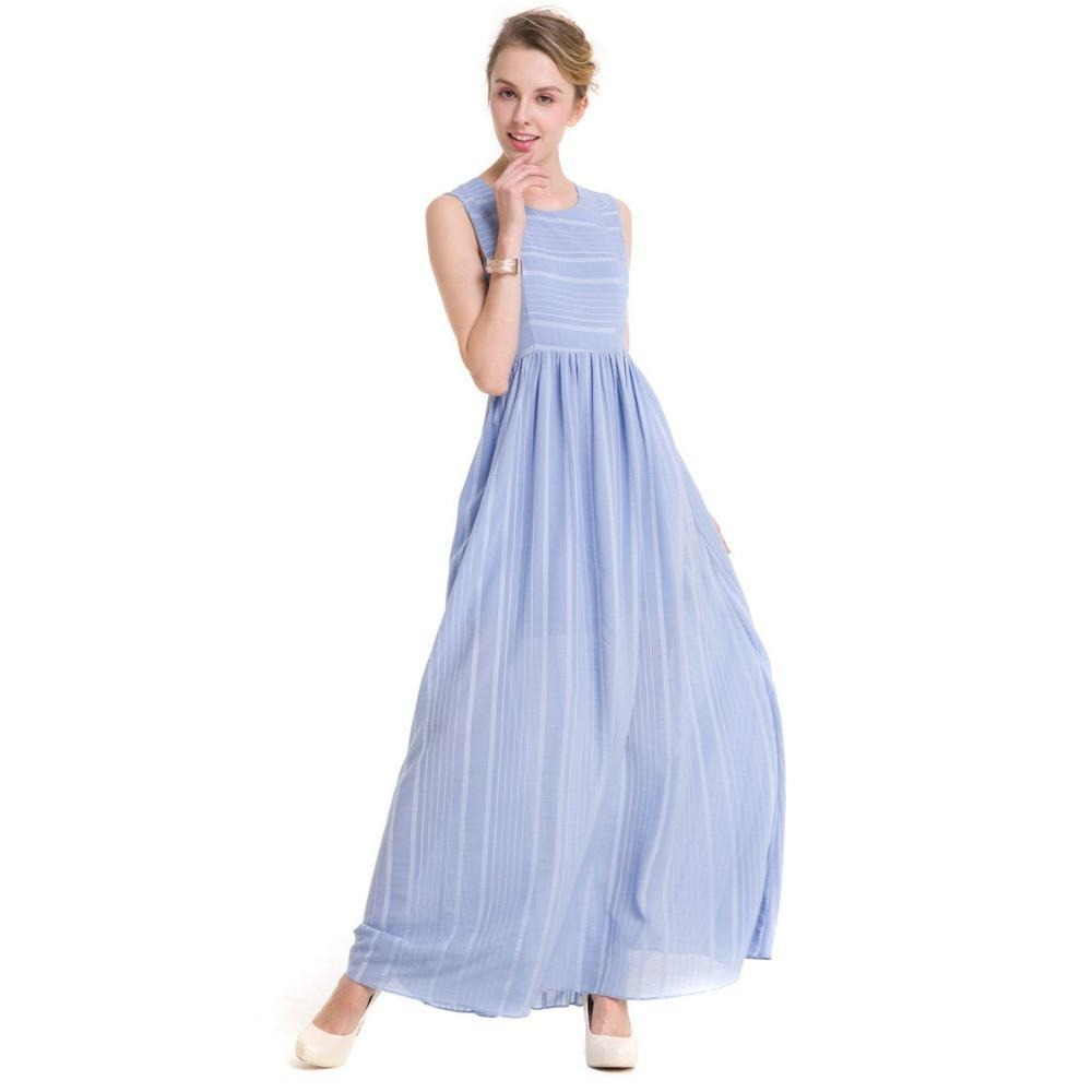 Sleeveless Lavendor Women Sundress Robes Clothing Summer Spring Casual Clothing Party Elegant Long Dresses-Dress-SheSimplyShops