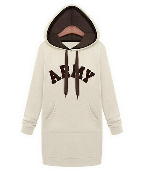 Fashion Autumn Winter Hoodies Fleece Hat Long Sleeve Print Letters Casual Casacos Hoody Long Sweatshirts sudaderas mujer-HOODIES-SheSimplyShops