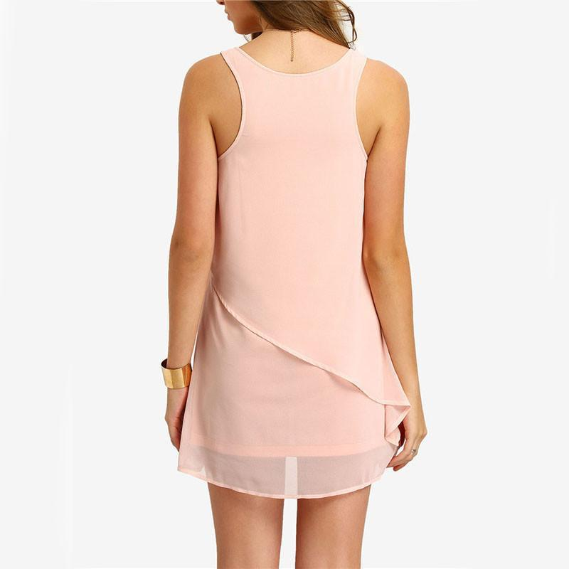 Stunning Back Zipper Mini dress-Dress-SheSimplyShops