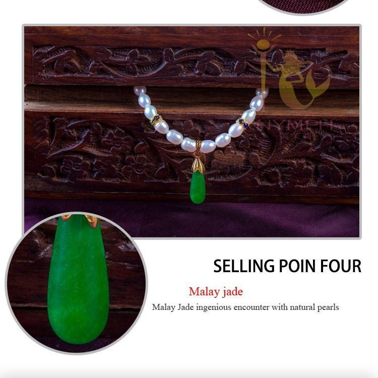 Jade NYMPH 100% natural pearl necklace jewelry,new fine real pearl Collar chunky necklaces for women PJXL105115B-NECKLACES-SheSimplyShops