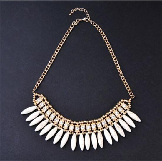 Layered Bohemian Tassel Drop Flower Vintage Maxi Collar Necklace Choker Chain Bib Statement Necklace & Pendants-Maxi-SheSimplyShops