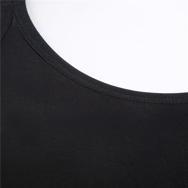 SheIn Plain Black Crisscross Back Tops Spaghetti Strap Crop Cami Tops Round Neck Hollow Out Sexy Bras For Women-Tops-SheSimplyShops