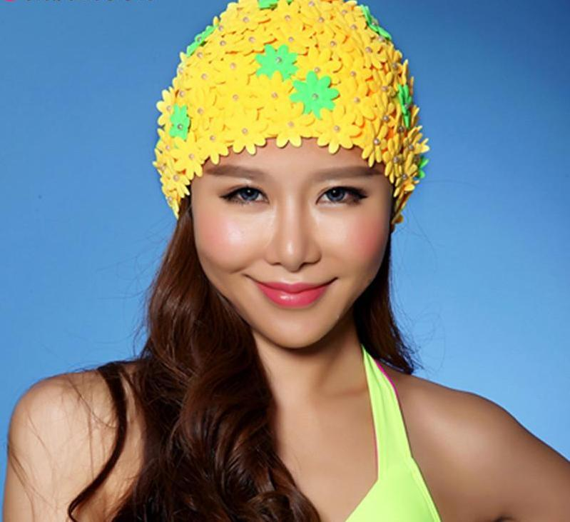 New Arrival Flower Swim Cap for Woman Swimming Hat for Long Hair Flowers Design Caps Sexy Floral Womens Hats-HATS-SheSimplyShops