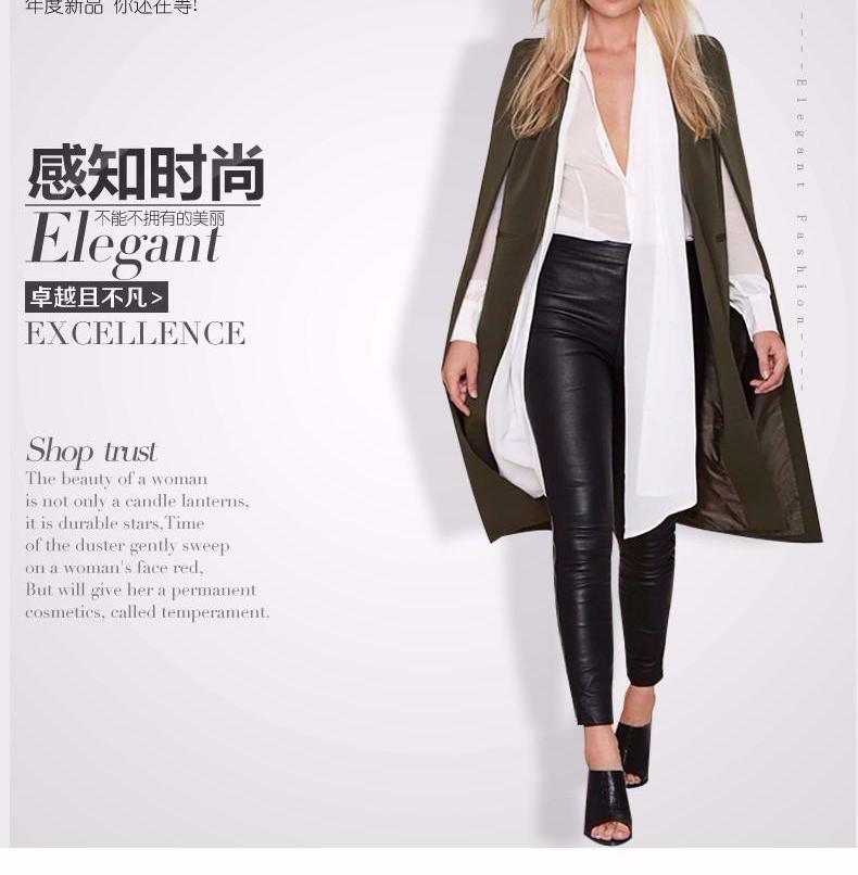 HDY Haoduoyi Brand style open sleeve Cloak Fashion women Trench Coats Outwears Tops-Coats & Jackets-SheSimplyShops