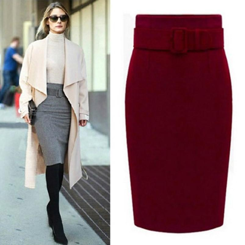 Stylish High waist pencil skirt-Dress-SheSimplyShops