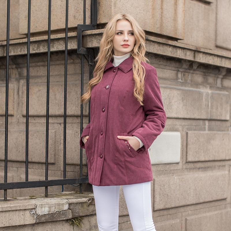 Women Parkas classic Ladies jacket micro moss padding coat high quality outerwear-Coats & Jackets-SheSimplyShops