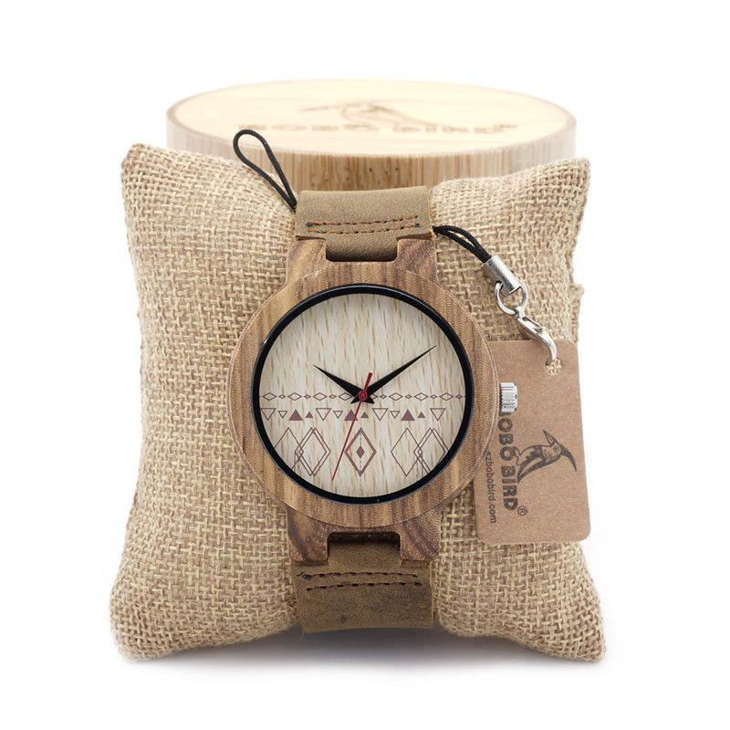Arrival Mens Retro Design Luxury Wooden Bamboo Watches With Cow Real Leather Quartz Watch in Gift Box-Dress-SheSimplyShops