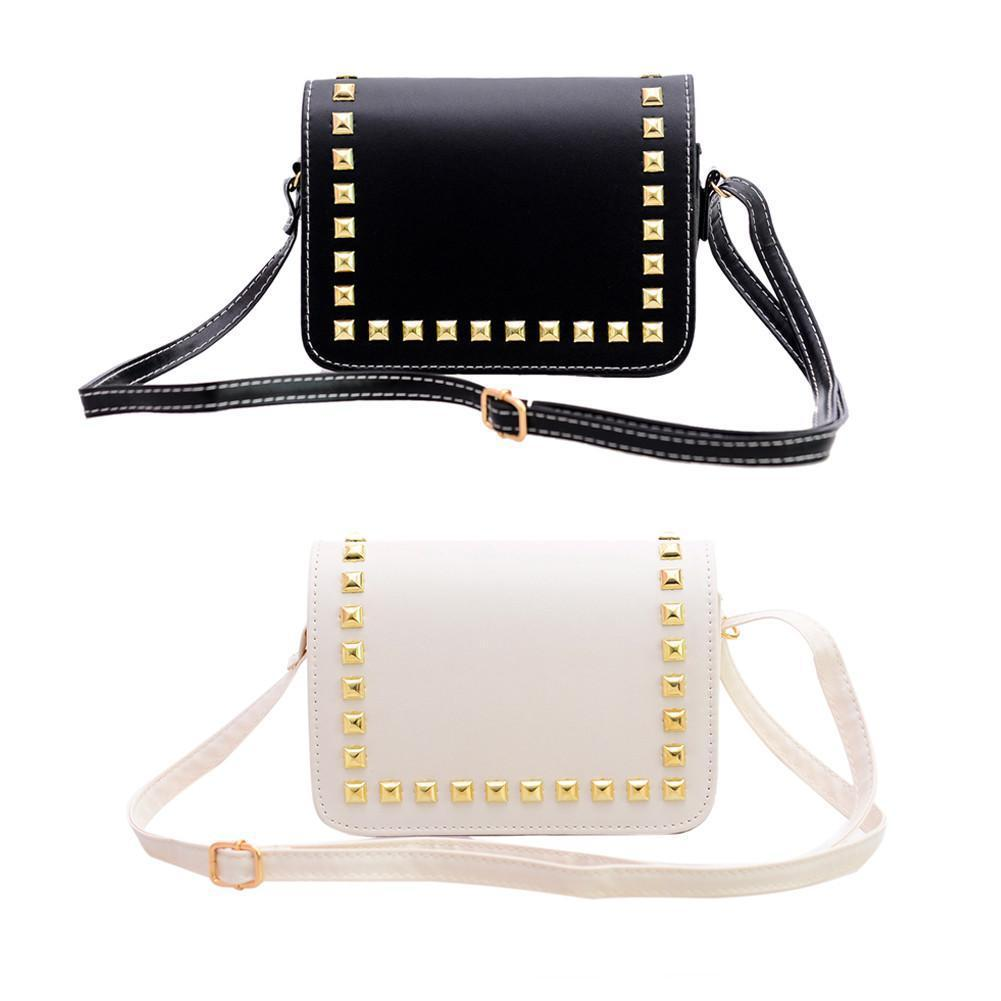 Newest Women Small PU Leather Messenger Bags Rivet Crossbody Shoulder Bags Female Shopping Bag Handbags Clutches Bolsa Feminina-BAGS-SheSimplyShops