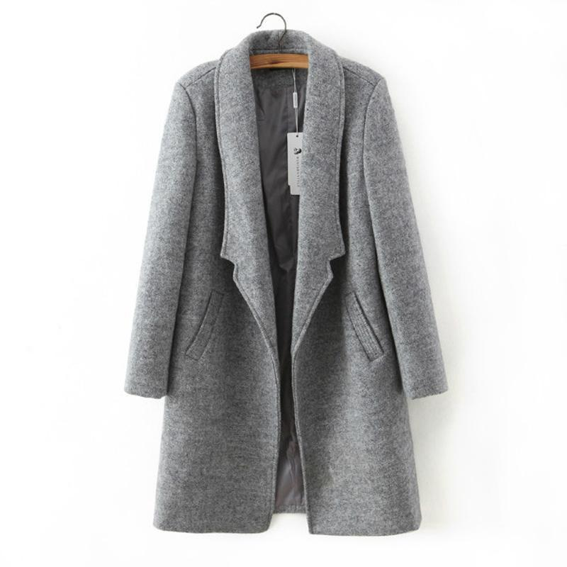 Casual Slim Autumn Woolen Coat-Coats & Jackets-SheSimplyShops