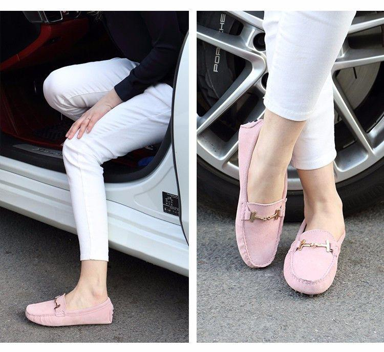 Casual Flat Leather Shoes-SLIPS-SheSimplyShops