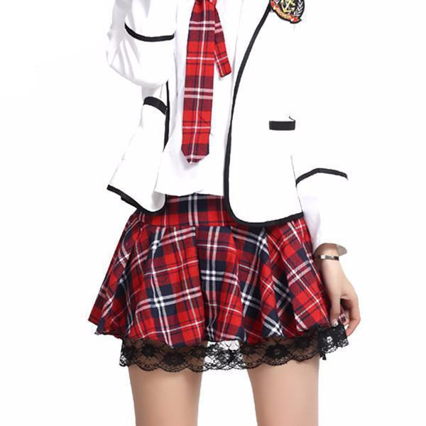 High quality school uniform skirt fashion plaid short skirt-Dress-SheSimplyShops