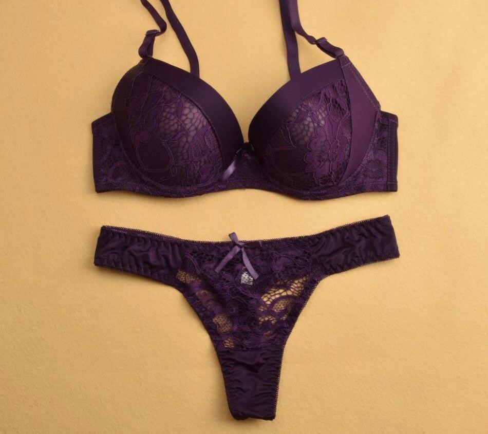 Push Up Bra And Panty Set-PANTS-SheSimplyShops