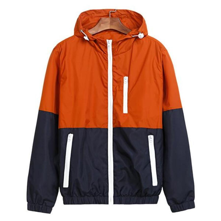 Jackets Women New Fashion Jacket Womens Hooded Basic Jacket Casual Thin Windbreaker Female Jacket Outwear Women Coat-Coats & Jackets-SheSimplyShops