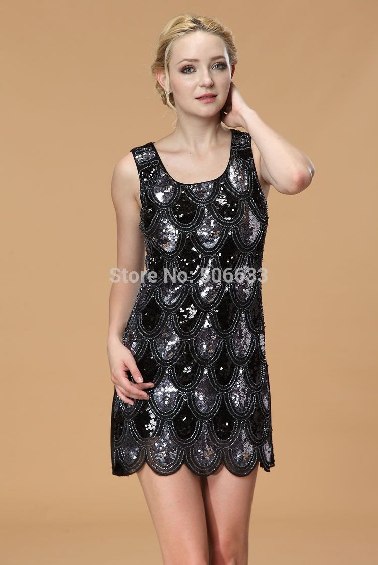 Beautiful sexy sequin Bling summer elegnt dress party evening-Dress-SheSimplyShops