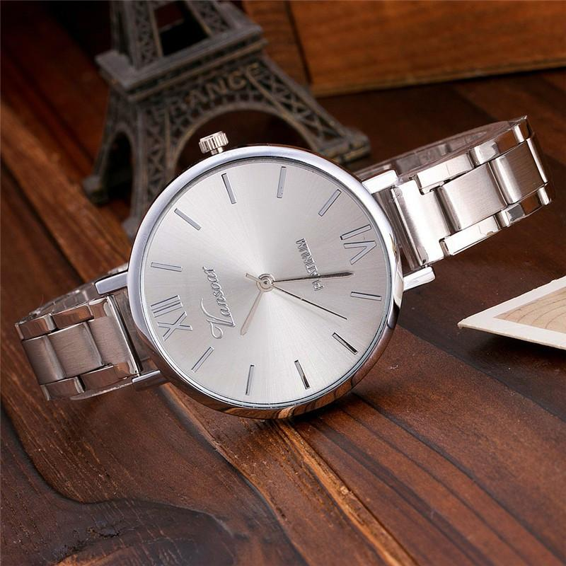 Stainless Steel Watch Rose Gold Everyday Bracelet Watch Fashion Luxury Women Dress Watch-Dress-SheSimplyShops