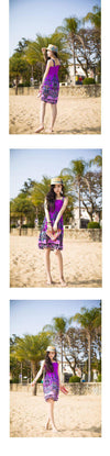 NEW ARRIVALSexy Summer Beach Women Girl Fashion Casual Long Beach print Boho Dress Sundress-Dress-SheSimplyShops