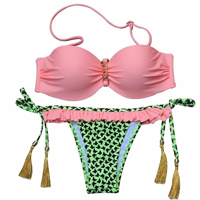 Sexy Brazilian Floral Print Push Up Bathing Suit-SWIMWEAR-SheSimplyShops