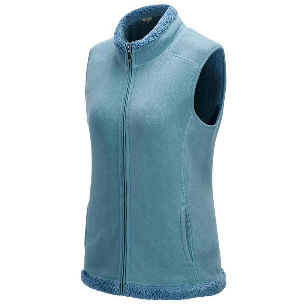 Women Cotton Vest Zipped Lightweight Body warmer Casual sleeveless Outerwear Coat Vests-Coats & Jackets-SheSimplyShops