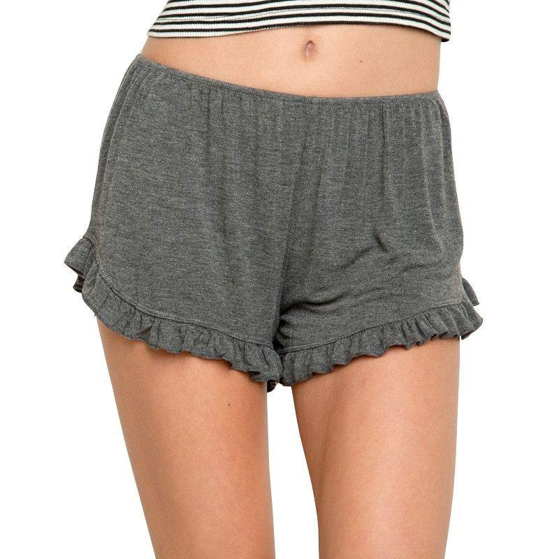 Cotton ruffles shorts-PANTS-SheSimplyShops