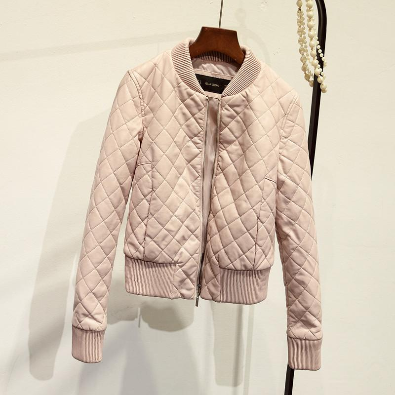 Fashion Autumn Winter Women Short O-neck Thick Zipper Warm Faux Leather Jacket Motorcycle Thicken PU Jackets Coat-Coats & Jackets-SheSimplyShops