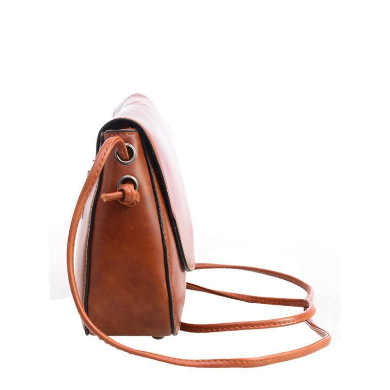 SheIn Woman Bags New Casual Bag Handbag Fashion Faux Leather Adjustable Strap Magnetic Closure Saddle Bag-BAGS-SheSimplyShops