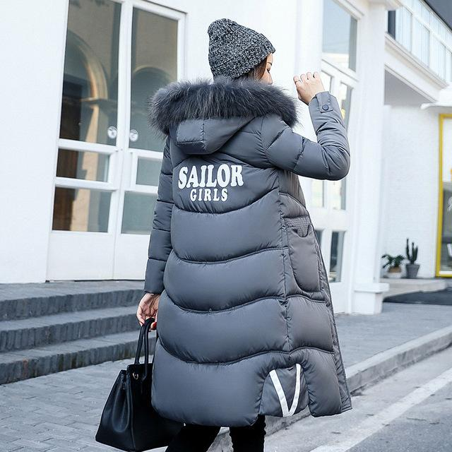 High Quality Women's Winter Jacket Fur Collar Hooded Thick Warm Casual Women Coat-Coats & Jackets-SheSimplyShops