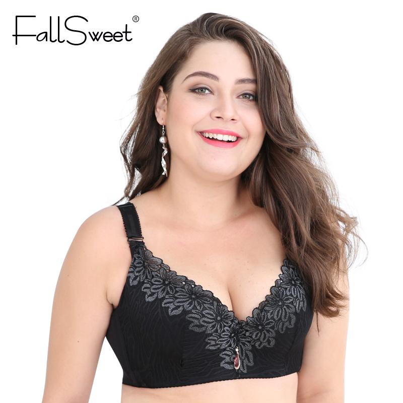 cup Lace Push Up bra for Plus Size Women Women Large Cup Bras Brassiere-BRAS-SheSimplyShops