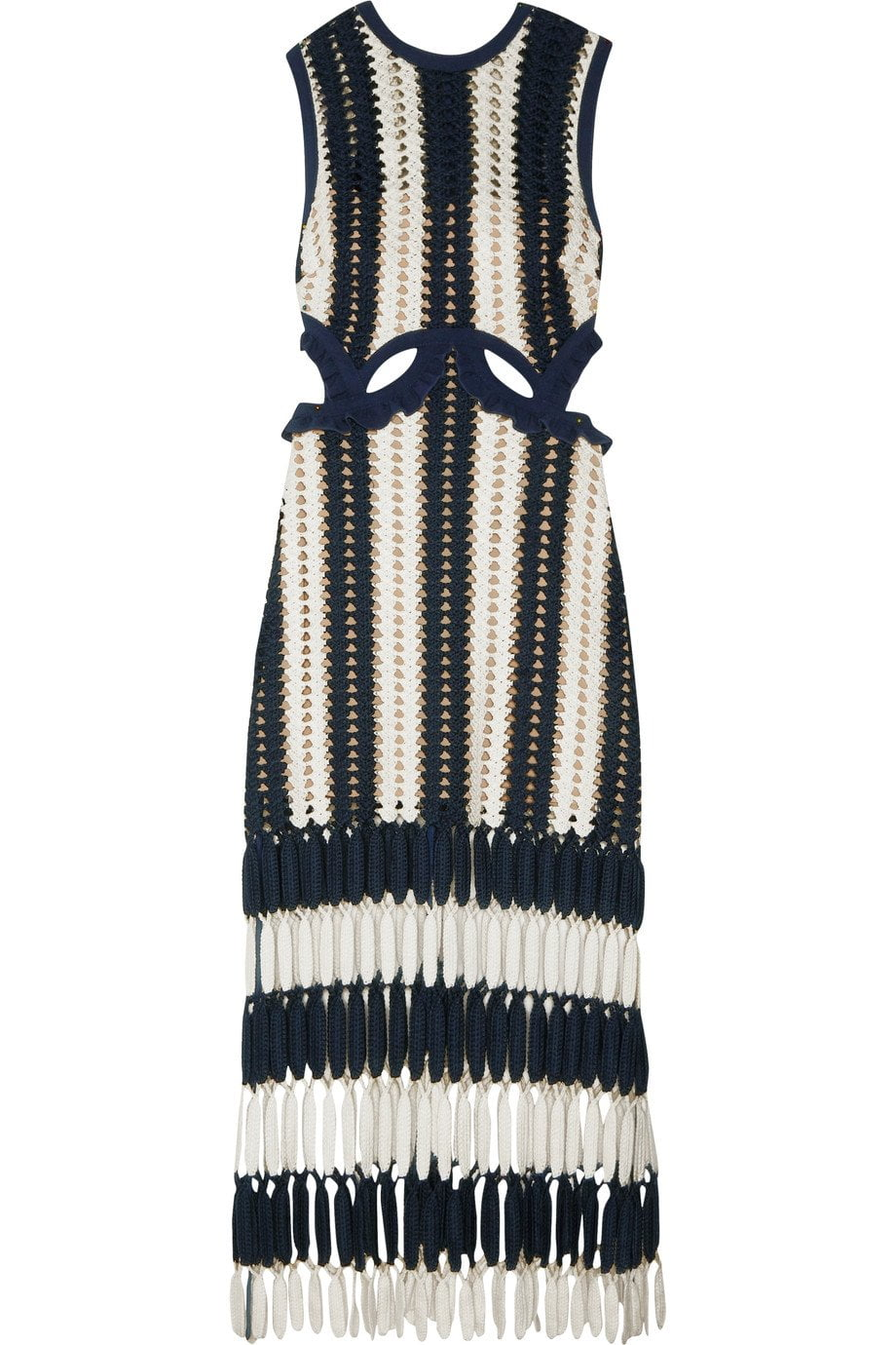 KNITTED TANK STRIPED DRESS-Dress-SheSimplyShops