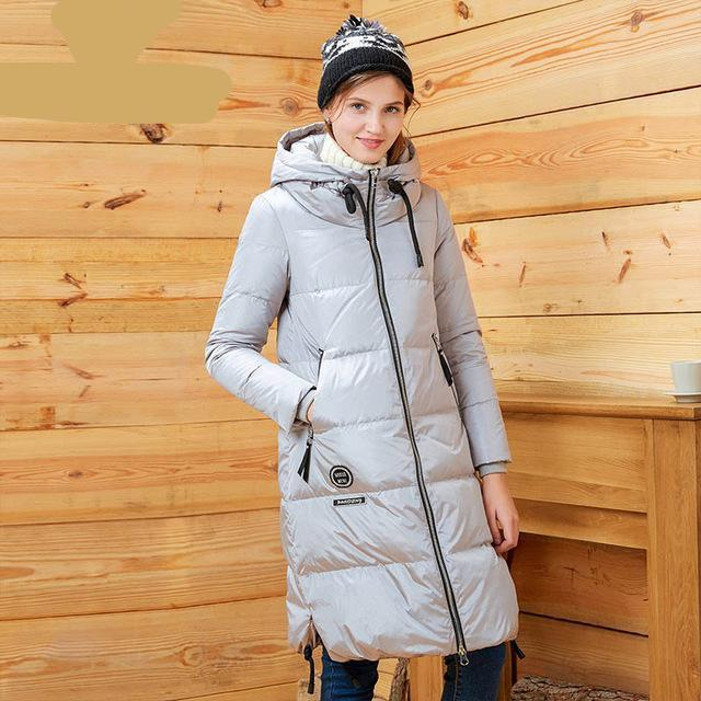 women's clothing winter thick down coat X-long down jacket women thick warm coat outwear with hooded-Coats & Jackets-SheSimplyShops
