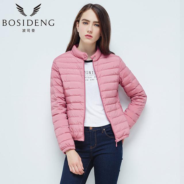 women's down coat female down jacket winter down coat ultra light high quality stand collar big size-Coats & Jackets-SheSimplyShops